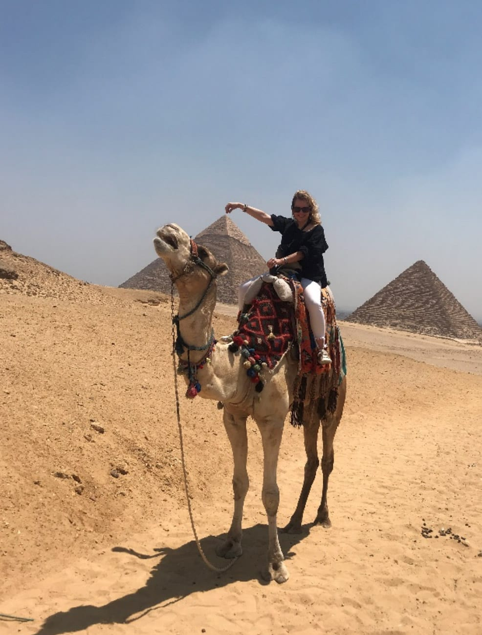 Ellen on a camel -BlogPostPhoto | Mentoring Network and Success Strategies - Ellen Ensher